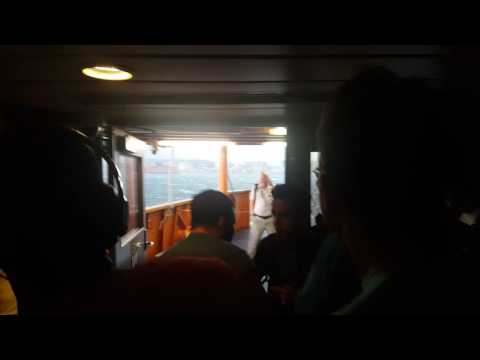 Staten Island Ferry going through severe storm