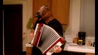 Creepy Horse Mask + Accordion = Friday Night Fun