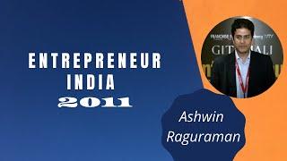 Ashwin Raguraman at Entrepreneur India