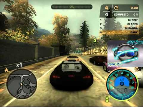 nfs most wanted audi rsq coche robot