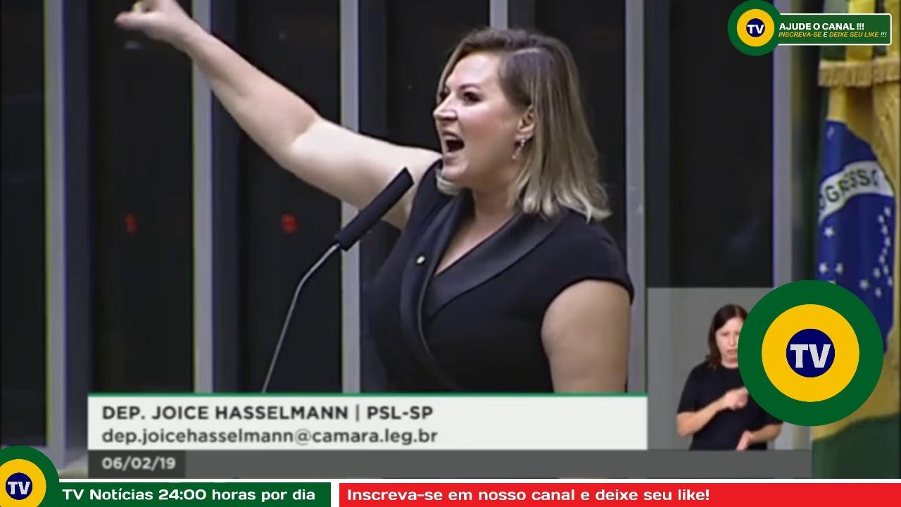 🔴 No Plenário da Câmara, Joice pergunta 'quem mandou matar Bolsonaro'