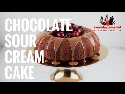 Chocolate Sour Cream Cake | Everyday Gourmet S7 E80