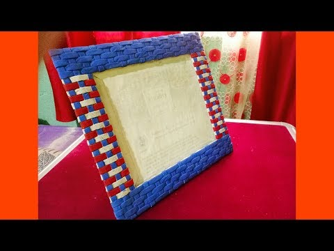 How to make a Unique Photo Frame | Best out of waste Newspaper Photo frame | Newspaper Craft
