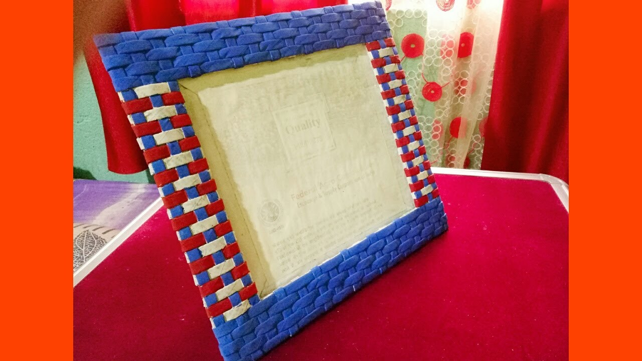 Newspaper PhotoFrame Tutorial | Cardboard Photo Frame | Best out of ...