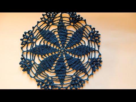 Как связать простой цветок крючком  Вязание крючком для начинающих