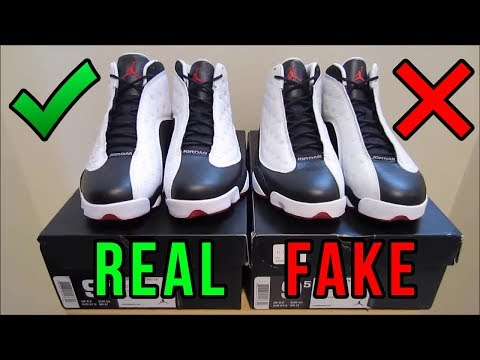 Jordan 13 He Got Game Authentic Vs. Fake From EBay