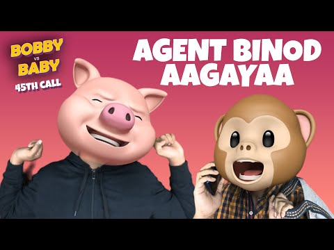 Bobby vs Baby    Agent Binod     45th funny call    Telugu comedy videos     Filmymoji