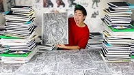 Flipping Through All My Sketchbooks! - 10,000 Drawings in 1000 Days!