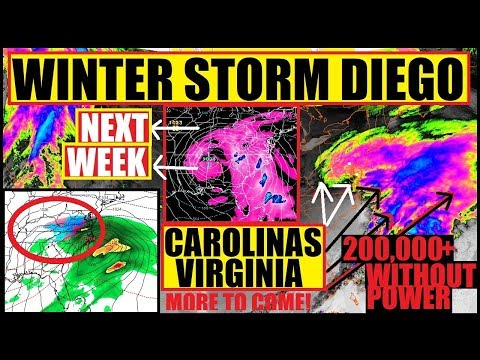*RECORD BREAKING* WINTER STORM DIEGO Puts #NorthCarolina and #Virginia on LOCK DOWN!