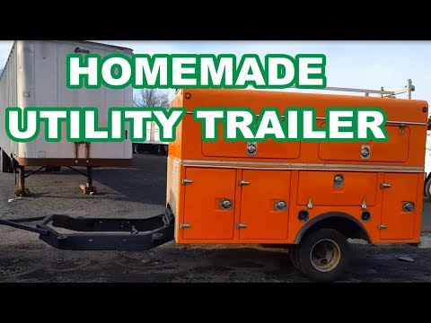 K3500 UTILITY BODY HOMEMADE TRAILER Cut Up The Truck/weld On A Tongue