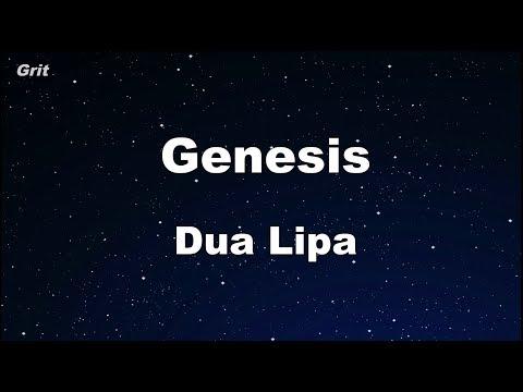 Genesis - Dua Lipa Karaoke 【No Guide Melody】 Instrumental