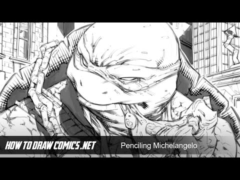 Comic Art Penciling Demo: Teenage Mutant Ninja Turtles - Michelangelo