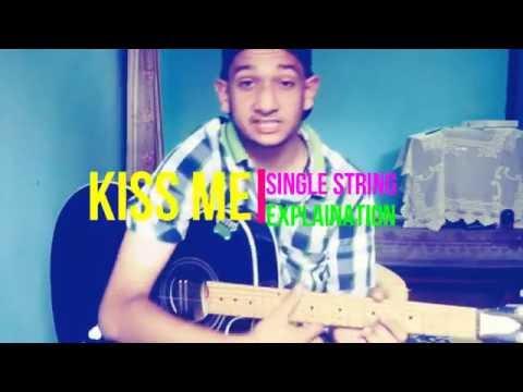 Dairy Milk Silk-KISS ME Single String Guitar Tabs Lesson VERY EASY ...