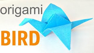Easy origami for kids. Origami bird flapping wings easy / paper birds craft / origami animals