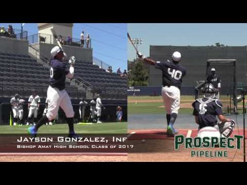 Jayson Gonzalez Prospect Video, Inf, Bishop Amat High School Class of 2017, HR Derby at PGAAC