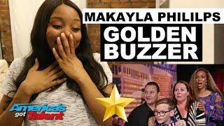 MAKAYLA PHILLIPS - Golden Buzzer - America's Got Talent 2018 - REACTION | #ibukola