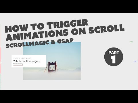 Trigger animations on scroll with an image reveal - ScrollMagic and GSAP - PART 1