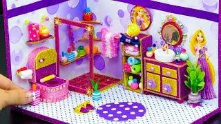 DIY Miniature Dollhouse Bathroom ~ Rapunzel Room Decor