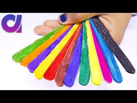 10 Cutest and easy Popsicle Stick Craft ideas for kids | Art