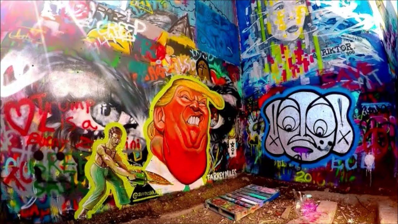 Graffiti wall austin - Trump Graffiti Castle Hill Urbex Austin Tx Gopro Hero