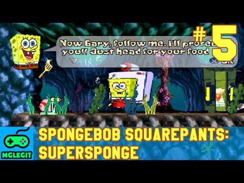 SpongeBob SquarePants SuperSponge Walkthrough Part 5 - Cavernous Canyons (PS1) (No Commentary)
