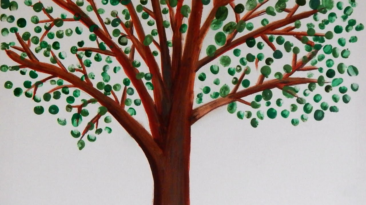 Make A Beautiful Keepsake Fingerprint Family Tree Diy Crafts