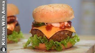 Special Burger Recipe by Kitchen With Amna