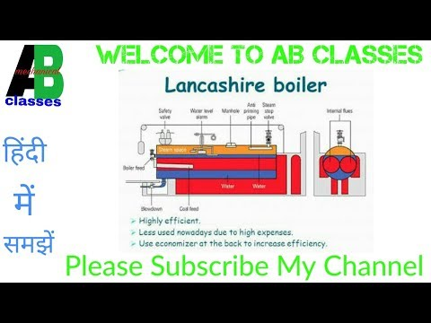(IN HINDI) Lancashire Boiler Construction and Working in Hindi-AB CLASSES, Thermodynamics