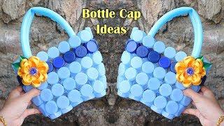Ide kreatif dari TUTUP BOTOL BEKAS ! Tas Cantik ! BEST OUT OF WASTE | plastic bottle cap craft idea