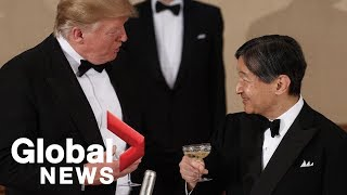 Trump attends state banquet hosted by Japan's Emperor Naruhito