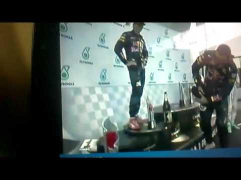 Daniel Ricciardo and Chrs*tian Horner