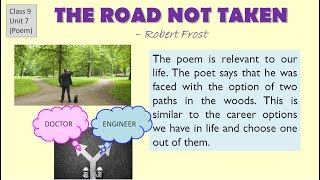 """""""the road not taken"""" explanation, cbse class 9 english lesson question answers , summary"""