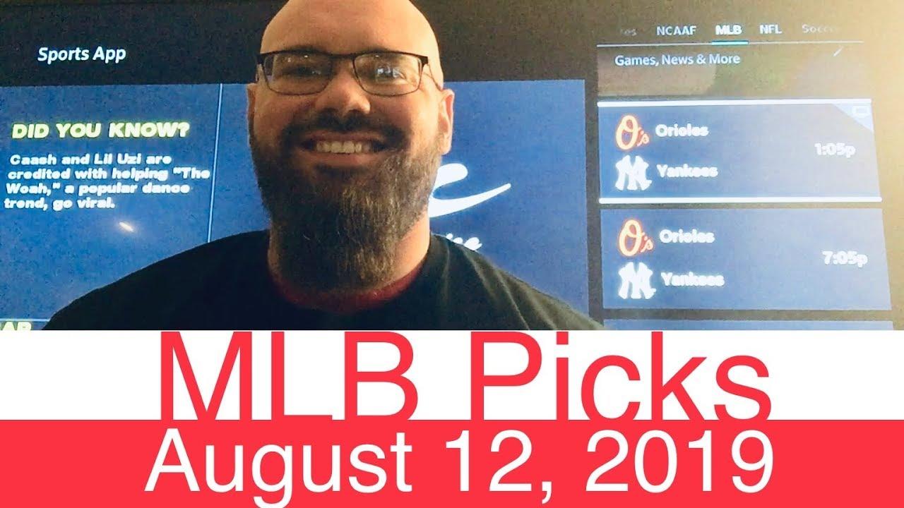 MLB Picks (8-12-19) | Major League Baseball Expert Predictions | Vegas  Lines & Odds