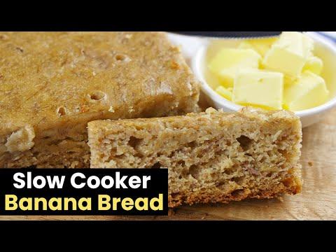 Delicious & Moist Slow Cooker Banana Bread