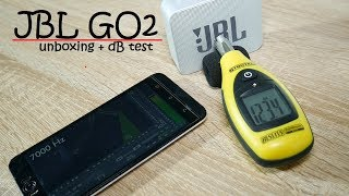 JBL GO 2 Bluetooth Speaker unboxing & sound dB test (It