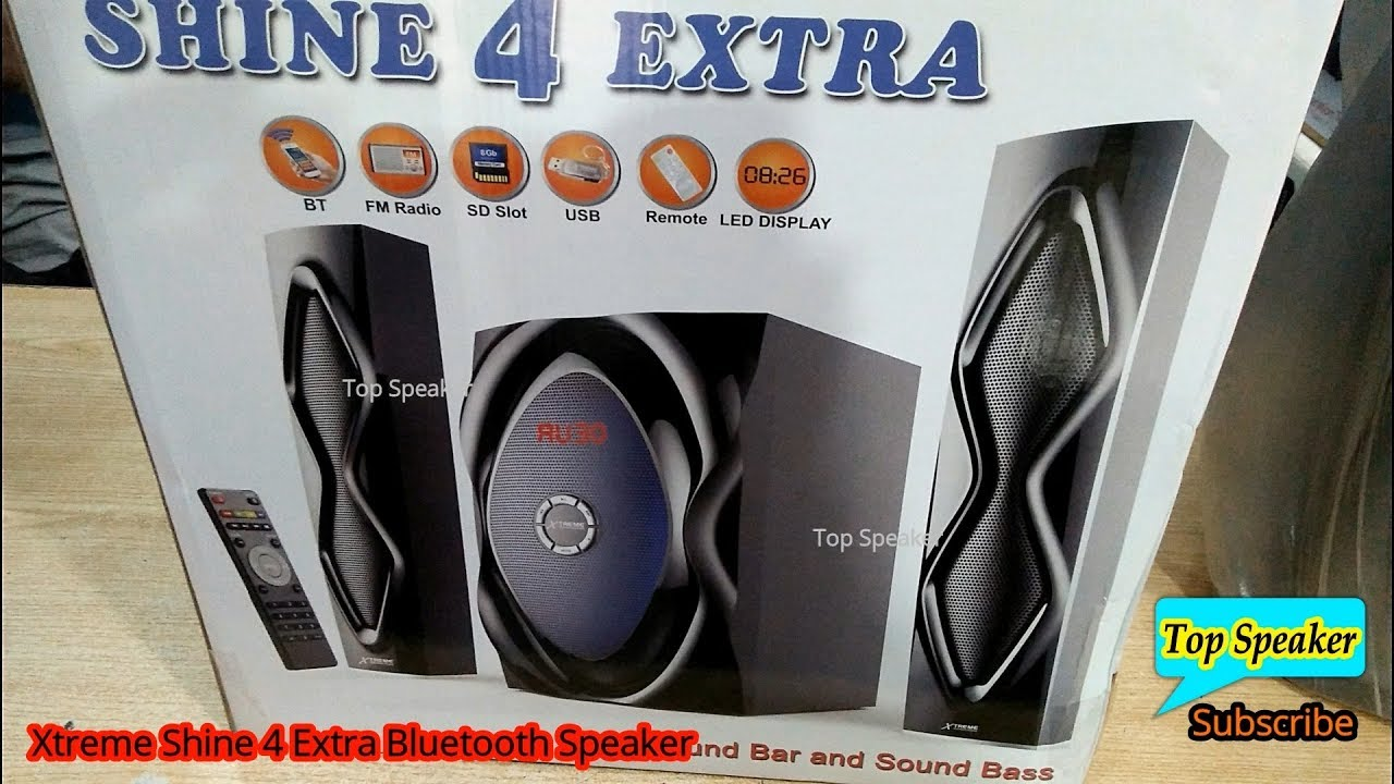 Xtreme Shine 4 Extra 2 1 Bluetooth Stylish Convertable Solid Bass  Multimedia Speaker Latest 2018