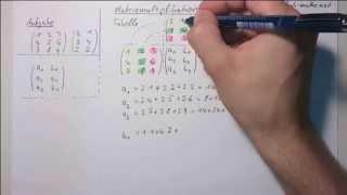 Matrizen Multiplikation anhand eines einfachen Schemas