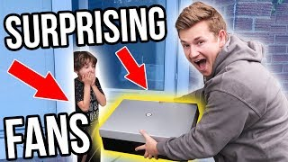 SURPRISING FANS WITH MERCHANDISE (INSANE REACTIONS)