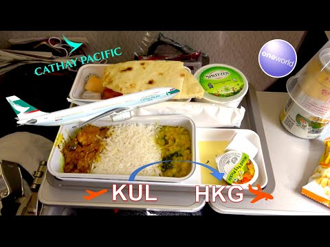 ✈︎-trip-report-✈︎-cathay-pacific-✈︎-kuala-lumpur---hkg-||-lounge-access-||-spilled-drink-!!!