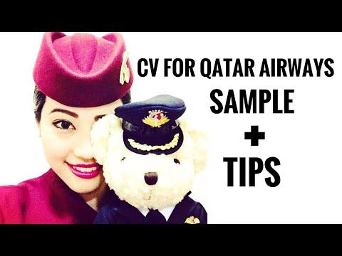Qatar Airways Cabin Crew - CV SAMPLE + TIPS