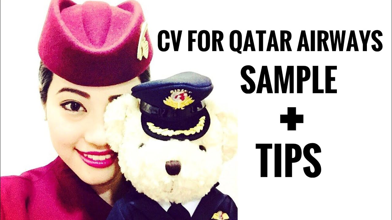 qatar airways cabin crew - cv sample   tips