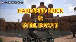 Conan Exiles -How to make HARDENED BRICK STEEL INGOTS