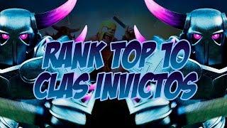 CLASH OF CLANS - TOP 10 MUNDIAL DE CLÃS INVICTOS EM GUERRA! - Curiosidades