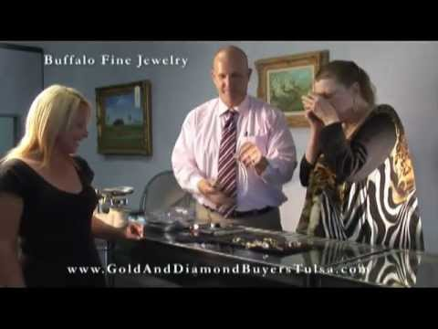 Sexy girl cashes in gold, silver, and diamond at Buffalo Fine Jewelry Gold and Diamond Buyers