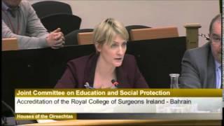 Ceartas presentation regarding the accreditation of RCSI-Bahrain - Irish Parliament