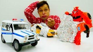 Фёдор ищет машинки, а находит Десептикона! Видео с Трансформерами