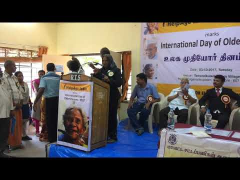 Talent of a Senior Citizen on International Day of Older Persons Observance on 3-10-17,