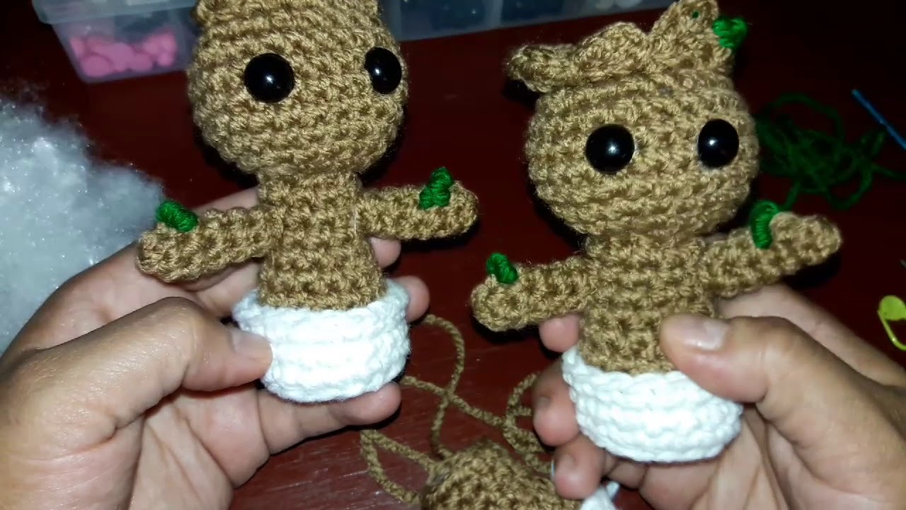 Groot em amigurumi no Elo7 | Art Familiar (E5A39D) | 720x1280