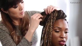 how to ombr box braids tutorial with kanekalon hair