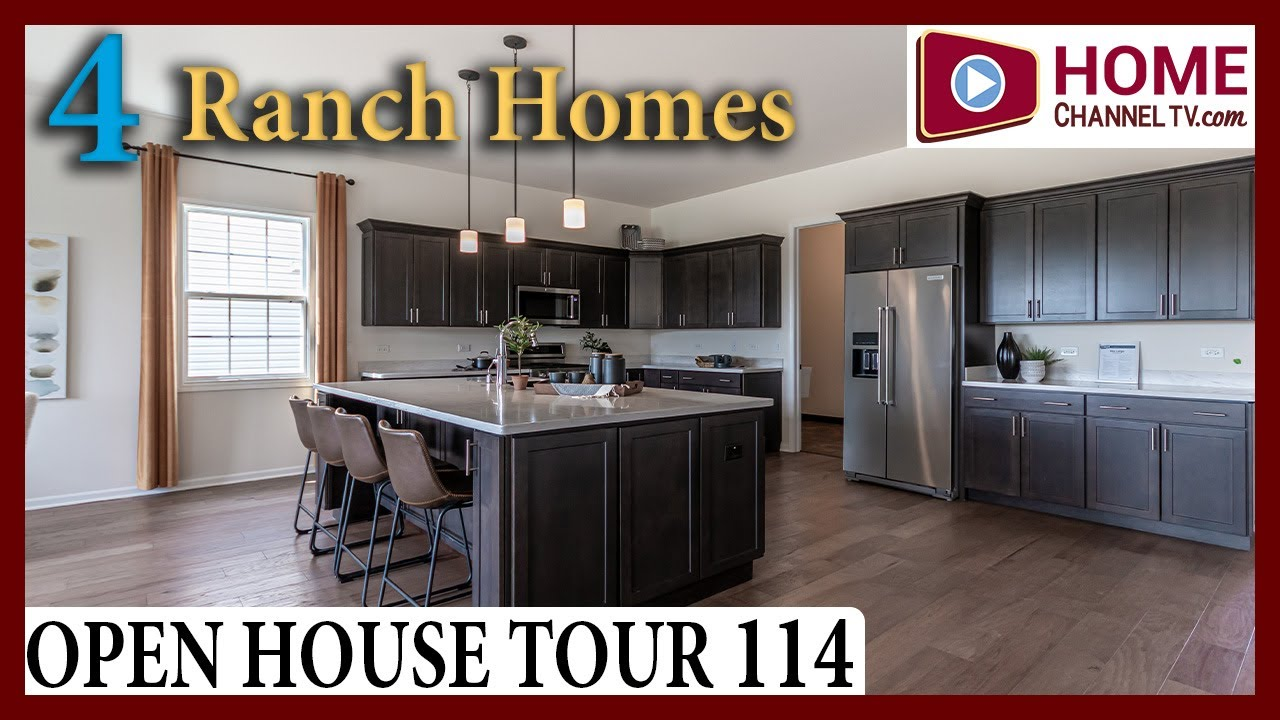 Open House Tour 114 - Touring 4 Ranch Homes at Lago Vista in Lockport, IL - by Hartz Homes